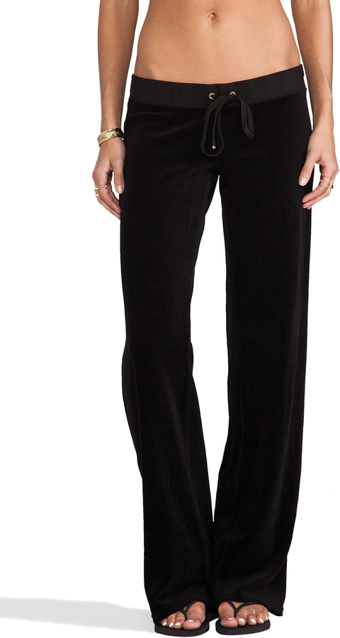 Juicy Couture Classic Velour Original Leg Pant
