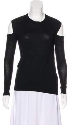 AllSaints Wool Cold-Shoulder Top