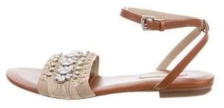 Michael Kors Embellished Ankle Strap Sandals