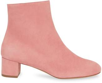 Mansur Gavriel Shearling 40mm Ankle Boot - Blush