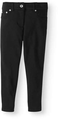 Cherokee Girls' French Terry Skinny Pants With Mock Round Pockets