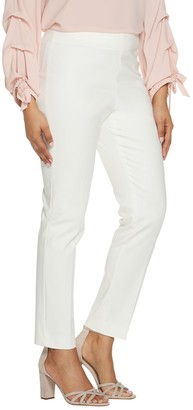 Vince Camuto Doubleweave Side Zip Straight Leg Pants