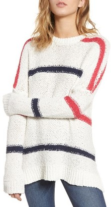 Women's Cupcakes And Cashmere Madden Stripe Sweater $120 thestylecure.com