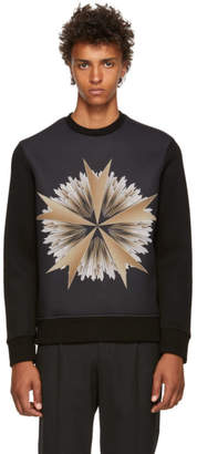 Neil Barrett Black Cross Floral Sweatshirt