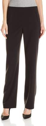 Briggs Women's Hollywood Waist Straight-Leg Pull-On Pant