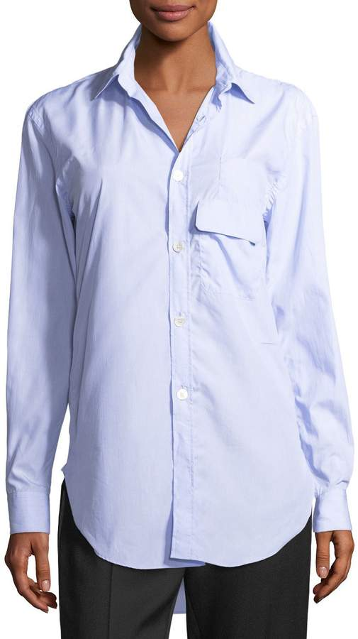 Burberry Harrier Striped Cotton Button-Front Shirt