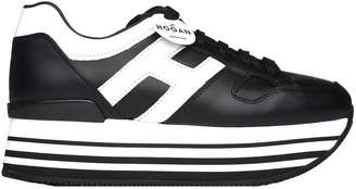 Hogan Maxi H222 Black And White Sneakers
