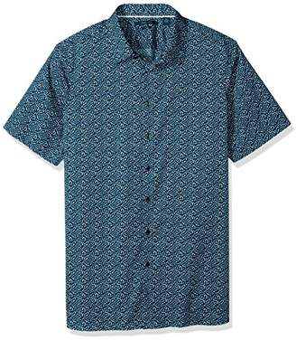 Perry Ellis Men's Big and Tall Short Sleeve Geo Print Shirt-j
