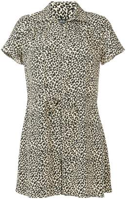 A.P.C. leopard print romper