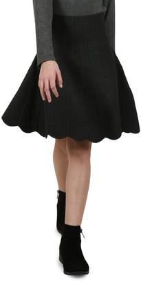 Mini Molly Girl's Scalloped Knit Skater Skirt
