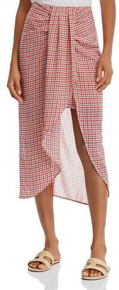 C/Meo Collective Counting All Twist-Front Plaid Skirt