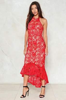 Nasty Gal Hole in My Heart Crochet Dress