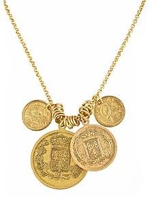 Yochi Republique Francaise Coins Necklace