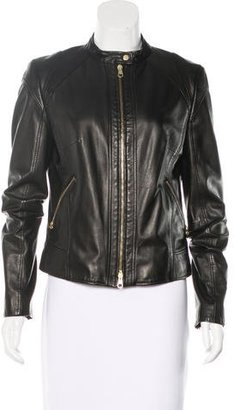 Hugo Boss Leather Zip-Up Jacket $245 thestylecure.com