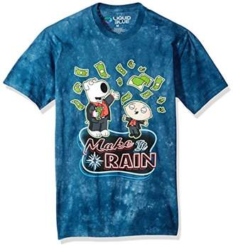 Liquid Blue Unisex-Adult's The Family Guy Make It Rain Money Tie Dye Ss T-Shirt