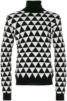 Chalayan split neck roll neck jumper