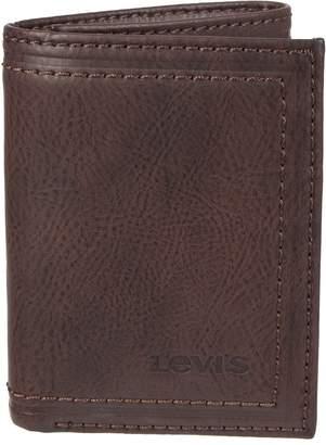 Levi's Levis Men's RFID-Blocking Trifold Wallet With Zipper Pocket