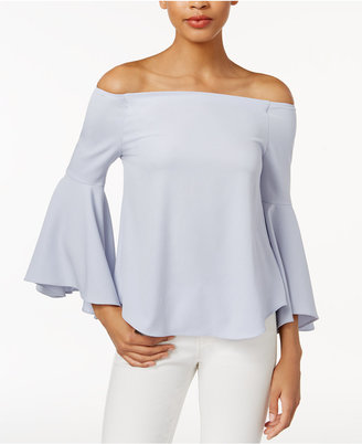 Bar Iii Off-The-Shoulder Bell-Sleeve Top, Created for Macy's $59.50 thestylecure.com