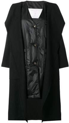 Societe Anonyme gilet layered cape coat