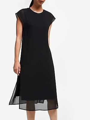 55ebac4186f John Lewis & Partners Double Layer Dress, Black