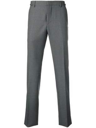 Prada square check trousers