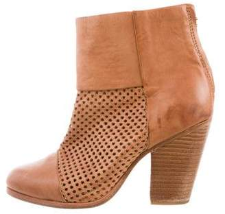Rag & Bone Newbury Perforated Ankle Boots