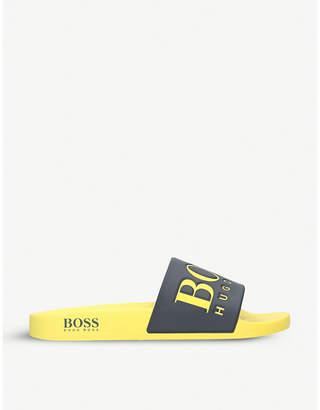 BOSS Solar logo rubber sliders