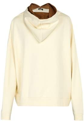 Raf Simons Back To Front Cotton Hooded Sweatshirt - Mens - White