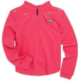 Vineyard Vines Toddler's, Little Girl's& Girl's Relax-Fit Embroidered Whale Shep Shirt