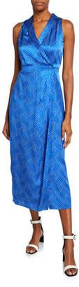 Equipment Katherine Silk Wrap Maxi Dress