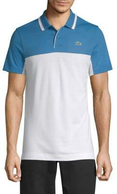 Lacoste Logo Jacquard Cotton-Blend Polo