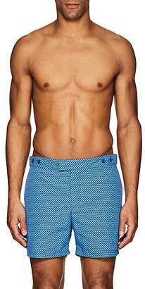 Trunks Frescobol Carioca Men's Copacabana Wave-Print Swim