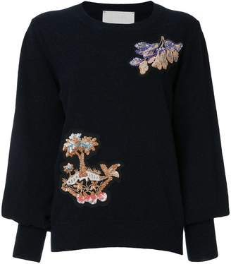 Peter Pilotto floral embellished sweater