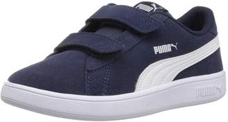 Puma Unisex-Kids Smash v2 SD Velcro Sneaker, Peacoat White