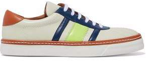 M Missoni Color-block Leather Sneakers