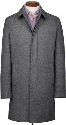 Charles Tyrwhitt Grey Puppytooth Cotton RainCotton coat Size 40