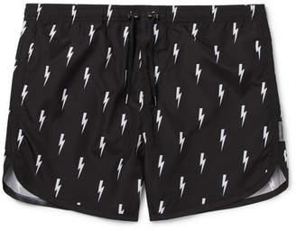Neil Barrett Short-Length Printed Swim Shorts