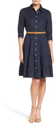 Women's Eliza J Tiered Skirt Shirtdress $148 thestylecure.com