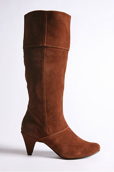 Slouchy Suede Foldover Boot