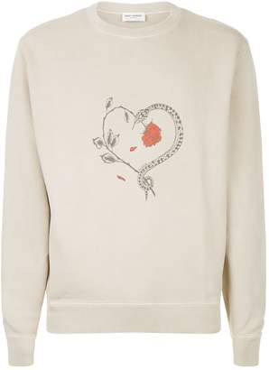 Saint Laurent Snake Heart Sweatshirt