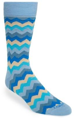 Men's Lorenzo Uomo Zigzag Socks $12.50 thestylecure.com