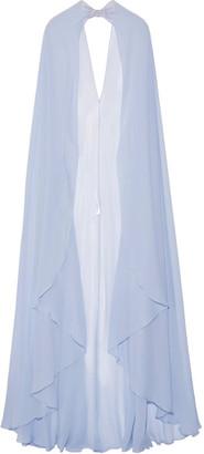 Zuhair Murad - Embellished Silk-georgette Cape - Lilac