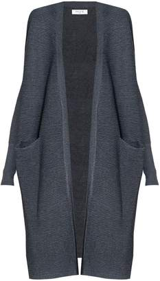 PAISIE - Dark Grey Ribbed Cardigan