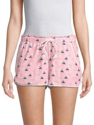 Drawstring Print Shorts