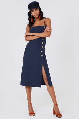 Na Kd Boho Button Slip Linen Look Dress