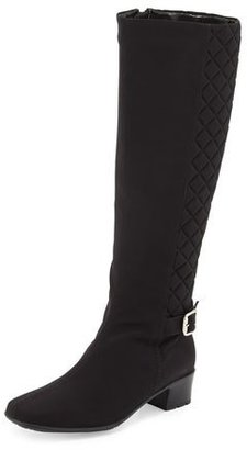Sesto Meucci Yolanda Waterproof Quilted Knee Boot, Black $325 thestylecure.com