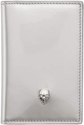 Alexander McQueen Silver Skull Pocket Organizer Card Holder