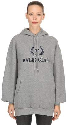 Balenciaga Oversized Logo Cotton Sweatshirt Hoodie