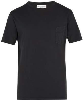 Officine Generale Crew Neck Cotton T Shirt - Mens - Grey