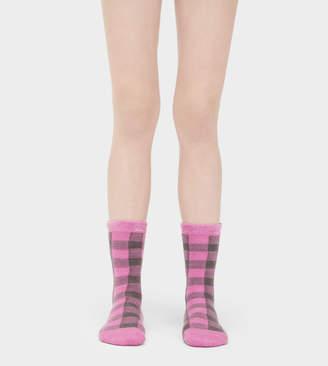 UGG Vanna Check Fleece-Lined Sock
